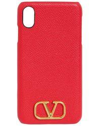 Valentino Garavani Valentino Garavani グレインレザーiphone X/xsケース - マルチカラー