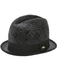 DSquared² Chapeau Haut En Paille Tressée - Noir