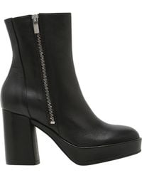 Janet & Janet - 75mm Zipped Leather Boots - Lyst