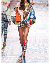 Dolce & Gabbana - Patchwork-jacquard-shorts - Lyst