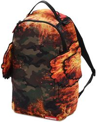 Sprayground Pyro Camo Double Wings Backpack - Multicolour