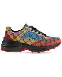 Gucci Canvas Trainers - Multicolour