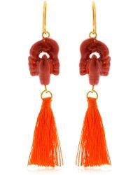 Nach - Lobster Earrings With Tassels - Lyst