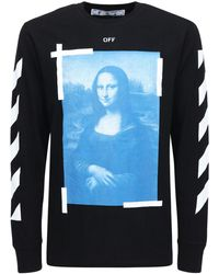 """Off-White c/o Virgil Abloh Langarm-shirt Aus Jersey """"blue Monalisa"""" - Blau"""