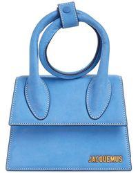 Jacquemus Le Chiquito Noeud Suede Bag - Blue