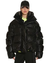 Juun.J - Oversized Shiny Nylon Down Jacket - Lyst