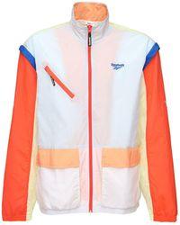 Reebok Zip Off Nylon Track Jacket - Blue