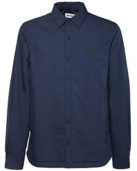 KENZO パデッドコットンブレンドシャツジャケット - ブルー
