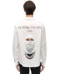 """ih nom uh nit Chemise En Popeline De Coton """"Future Archive"""" - Blanc"""
