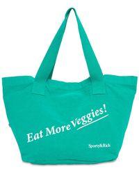 Sporty & Rich - Eat Veggies コットントートバッグ - Lyst