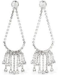 Ca&Lou Clara Drop Fringed Crystal Earrings - Multicolour
