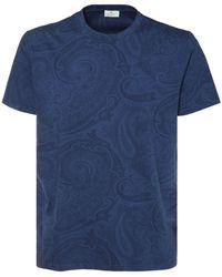 Etro コットンジャージーtシャツ - ブルー