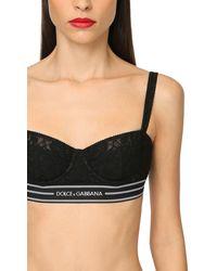 Dolce & Gabbana Balconette-bh Mit Logo - Schwarz