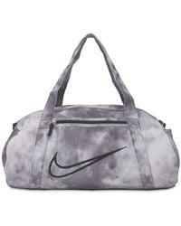 Nike Printed Training Duffle Bag - Gray