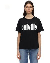 Colville T-shirt En Jersey De Coton Logo Imprimé - Noir
