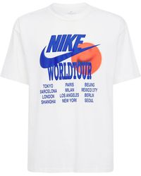 "Nike T-shirt Imprimé ""world Tour"" - Blanc"