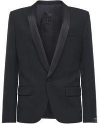 Balmain - Blazer Aus Wolle Im Collection Fit - Lyst