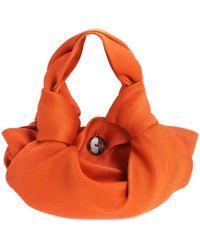 The Row Ascot Two Satin Top Handle - Orange