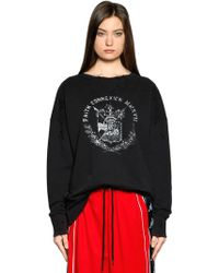 Faith Connexion | Paris Printed Ripped Jersey Sweatshirt | Lyst