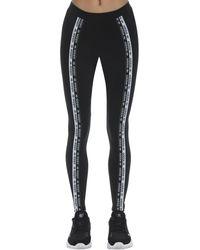 adidas Originals Leggings De Algodón Stretch - Negro