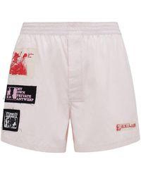 Raf Simons Boxershorts Aus Baumwolle Mit Patches - Pink