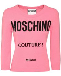 Moschino ウール&カシミアニットセーター - ピンク