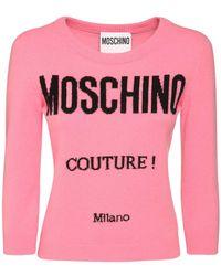Moschino Strickpullover Aus Wolle Und Kaschmir - Pink