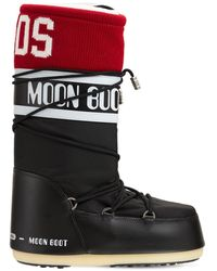 Gcds Classic Icon Moon Boot W/ Knit Band - Black