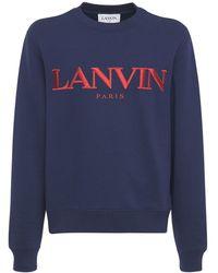 Lanvin コットンスウェットシャツ - ブルー