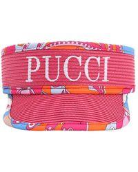 Emilio Pucci Logo Nylon Visor - Red