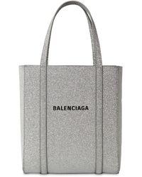 Balenciaga Everyday Xxs Aj Tote Aus Leder Mit Glitter-finish Und Print - Mettallic