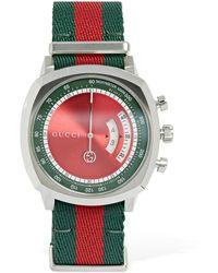 "Gucci 40mm Armbanduhr Mit Gewebe ""grip"" - Mehrfarbig"
