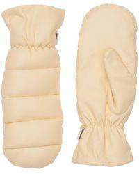 Nanushka Melaka Puffy Faux Leather Gloves - Natural