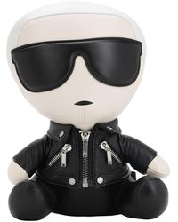 Karl Lagerfeld Ikonik Karl Collectibleレザードール - ブラック