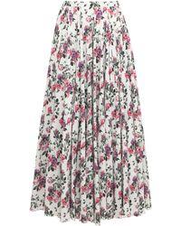 Emilia Wickstead Rhea Bibione Cotton Plumetis Long Skirt - White