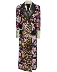 Dolce & Gabbana Длинное Пальто Из Жаккарда И Парчи - Многоцветный