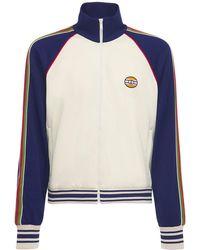 Gucci Спортивная Куртка С Аппликацией Логотипа - Синий
