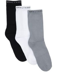 1017 ALYX 9SM Pack Of 3 Logo Stretch Cotton Socks - Multicolor