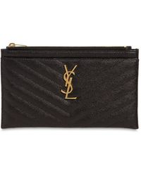 Saint Laurent Pochette Piccola In Pelle Trapuntata - Nero