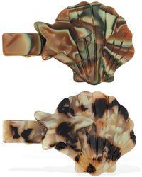 Valet Studio Set Of 2 Lelia Hair Clips - Mehrfarbig