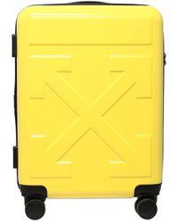 Off-White c/o Virgil Abloh Embossed Hardshell Suitcase - Yellow