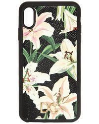 """Dolce & Gabbana Чехол Для Телефона Iphone X С Принтом """"lily"""" - Черный"""