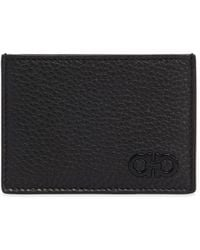 Ferragamo - Firenze Textured Leather Card Holder - Lyst