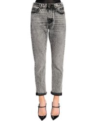 Saint Laurent - Skinny Stretch Washed Denim Jeans - Lyst