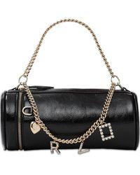 Roger Vivier Rv Charm Mini Leather Top Handle Bag - Black