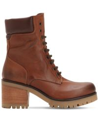 Strategia - 70mm Vintage Leather Hiking Boots - Lyst