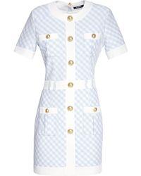Balmain Платье С Пуговицами - Синий