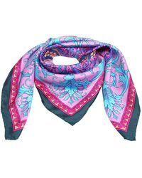 Versace シルクスカーフ - ブルー
