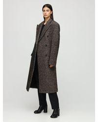 Maison Margiela - Двубортное Пальто Из Шерсти - Lyst