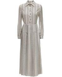 Valentino - Signature ツイルシャツドレス - Lyst